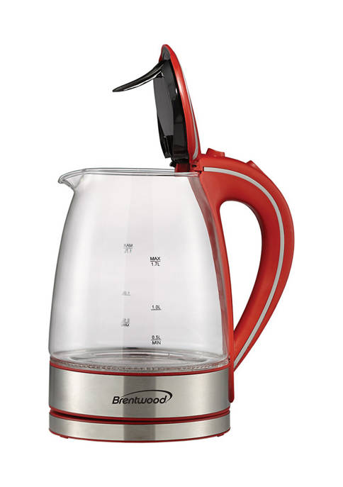 Brentwood Appliances 1.7-Liter Cordless Tempered-Glass Electric