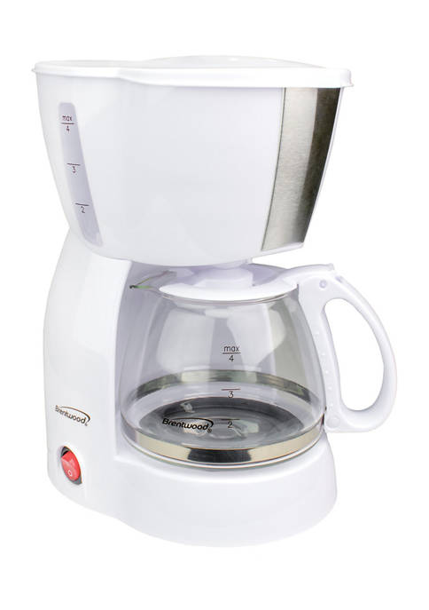 Brentwood Appliances 4 Cup Coffee Maker (White)