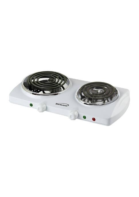 Brentwood Appliances 1,500 Watt Double Electric Burner