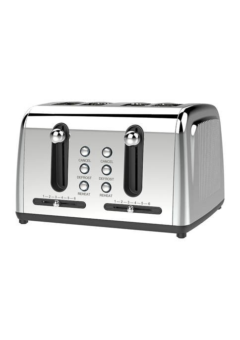 Brentwood Appliances Extra Wide Slot 4 Slice Toaster