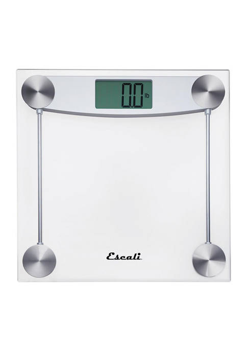 Square Clear Glass Bathroom Scale