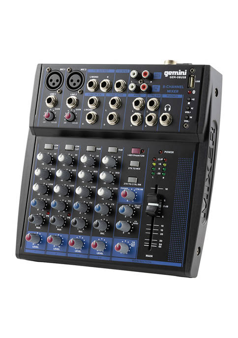 Gemini Compact 8Channel Bluetooth Audio Mixer