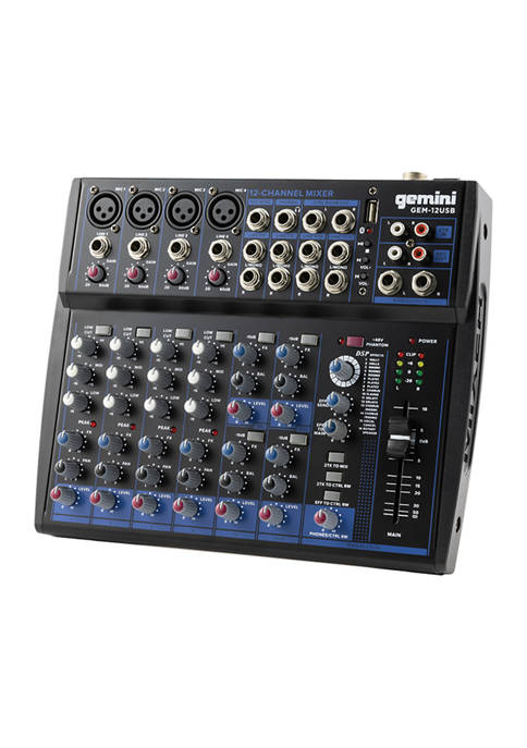Gemini Compact 12 Channel Bluetooth Mixer