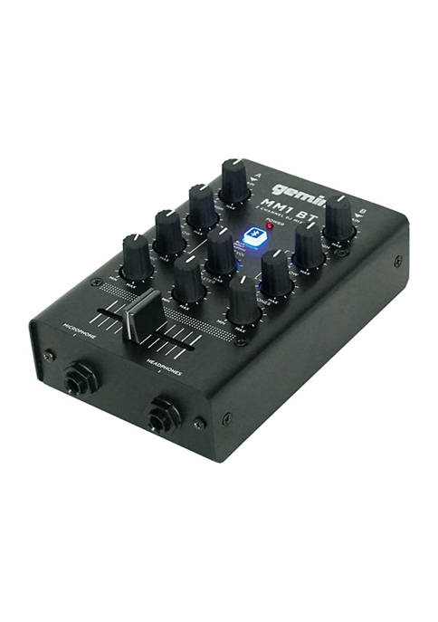 2 Channel DJ Mixer with Bluetooth Input