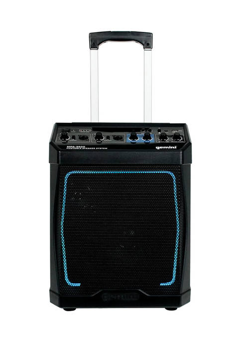 Gemini Portable Rechargeable Bluetooth Speaker with Lights