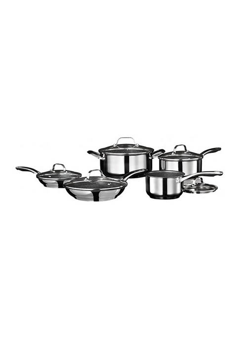 Stainless Steel Non Stick 10 Piece Cookware Set with Stainless Steel Handles