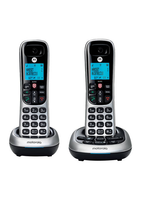 CD4 Series Digital Cordless Telephone with Answering Machine - Set of 2 Handsets