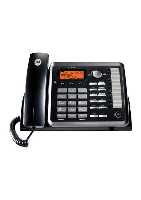 Motorola 2-Line Corded Desk Phone Digital Answering System