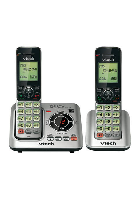 DECT 6.0 Expandable Speakerphone with Caller ID 2 Handset System