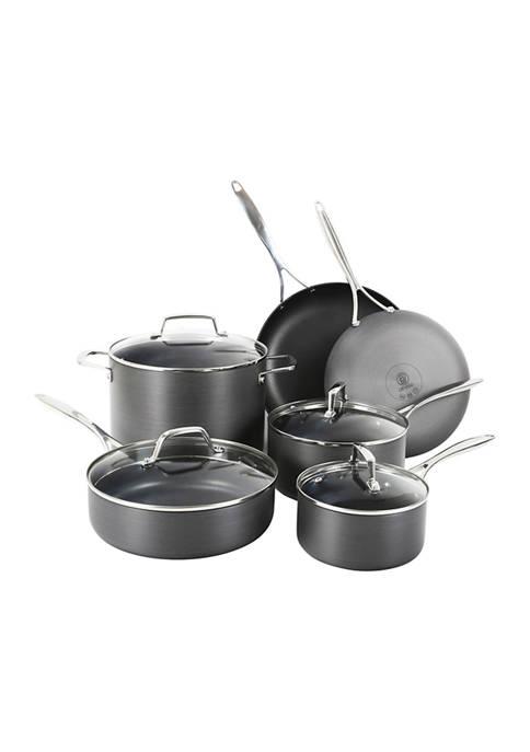 Othello 10-Piece Hard-Anodized Pots and Pans Set