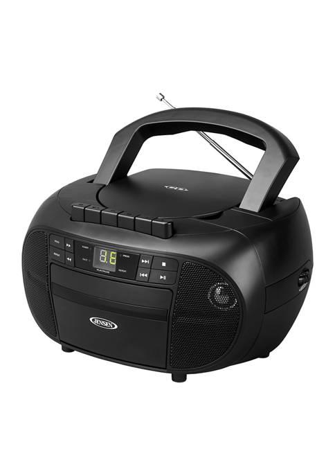 JENSEN Portable Stereo Cassette Recorder & CD Player