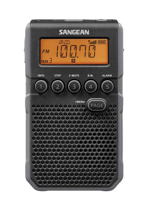 Sangean AM/FM Weather Alert Pocket Radio (Black)