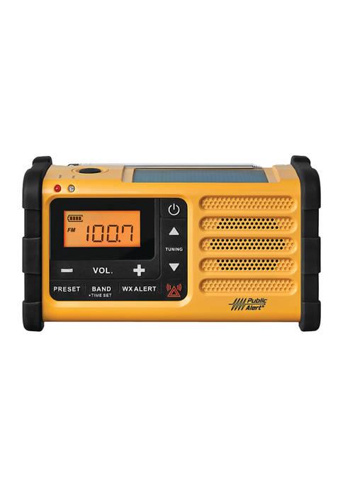 WeatherX AM/FM Weather Crank Radio with USB