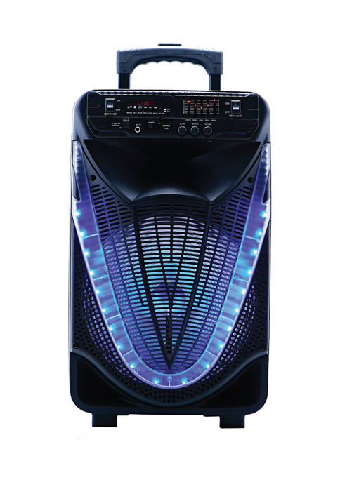Portable 12-Inch Bluetooth Party Speaker with Disco Light