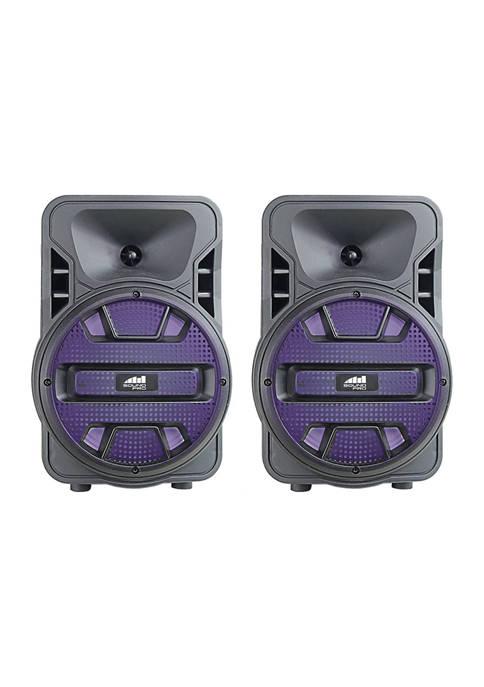 Naxa Dual 8-Inch Bluetooth True Wireless Sync Party