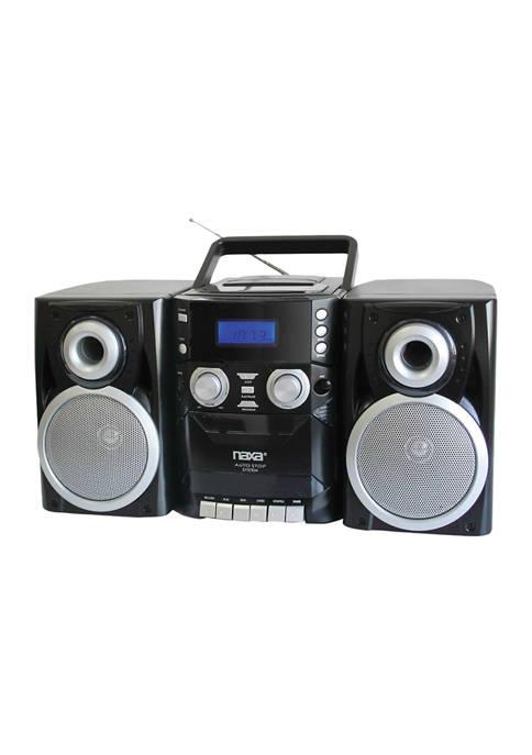 Naxa Portable CD Player with AM/FM Radio, Cassette