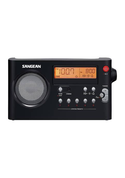 Sangean AM/FM Digital Rechargeable Compact Portable Clock Radio