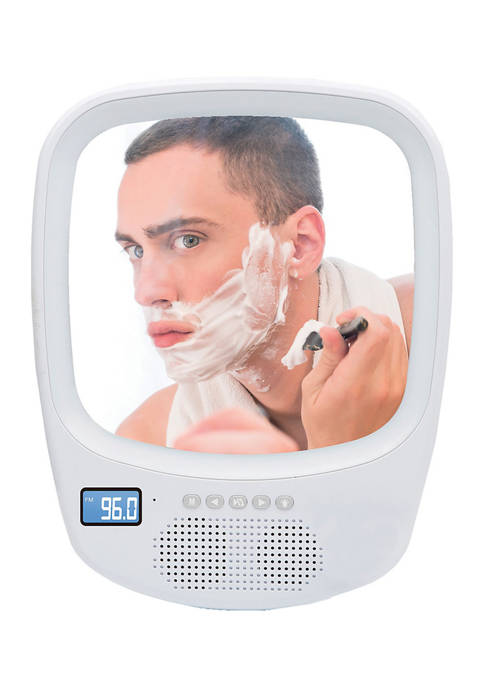 QFX Fogless Light-up Mirror and Bluetooth Splashproof Speaker
