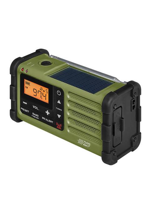 Sangean AM/FM Multi-Powered Weather Emergency Radio