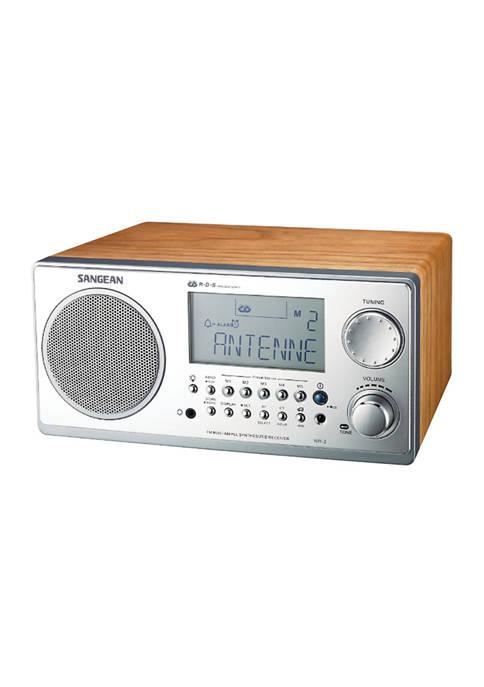 Digital AM/FM Stereo System with LCD & Alarm Clock (Walnut)