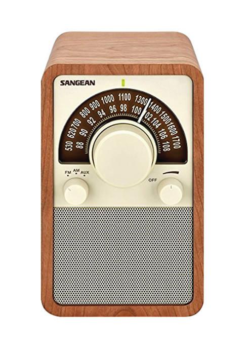 Sangean AM/FM Tabletop Radio (Walnut)