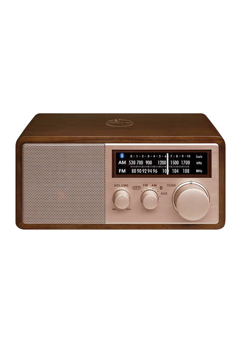 45th Anniversary Special Edition AM/FM Wooden Cabinet Radio with Bluetooth