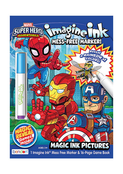 Bendon Marvel Super Hero Imagine Ink Coloring Book