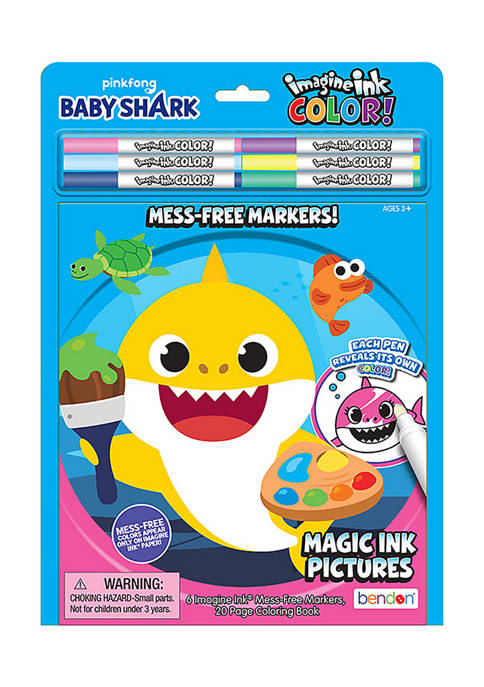 Bendon Baby Shark Imagine Ink Coloring Pad with
