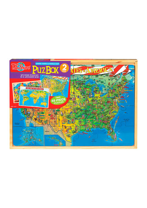 Bendon United States and World Map Puzzles in