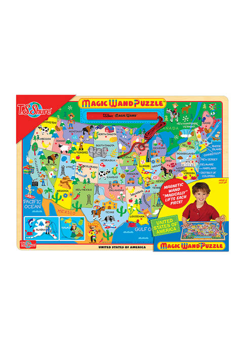 Bendon Map of the USA Magic Wand Wooden