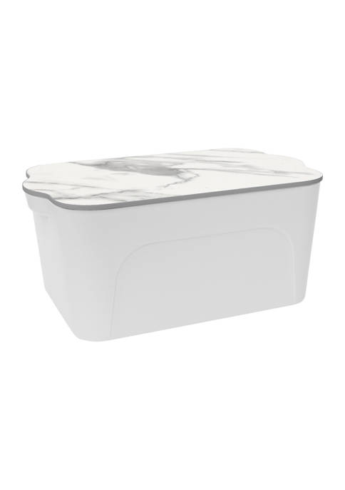 Heritage Small Storage Bin with Marble Lid