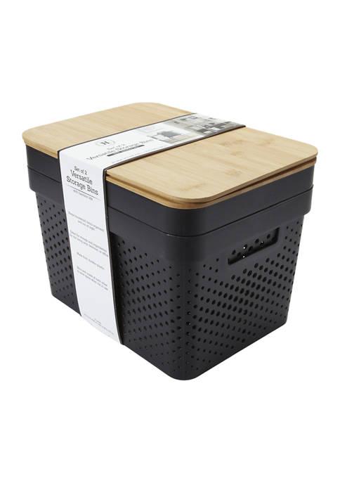 Versatile Storage Bins - Set of 2