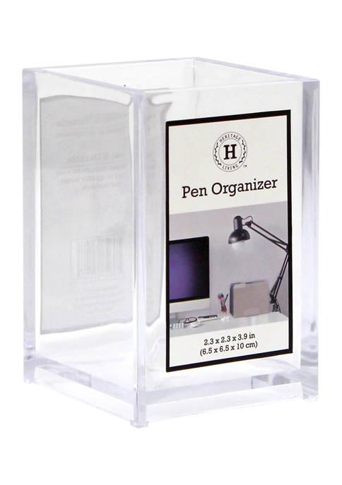 Heritage Clear Pen Organizer