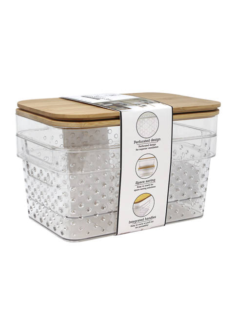 Heritage Set of 2 Clear Plastic Bins with