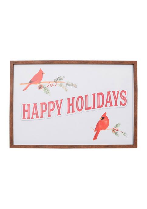 Cardinal Holiday Wall Art