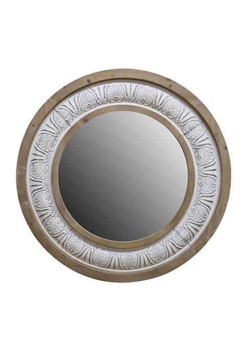 Boston Warehouse Two-Tone Round Mirror