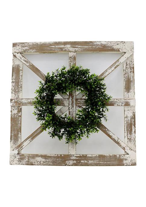 Boston Warehouse Window with Wreath