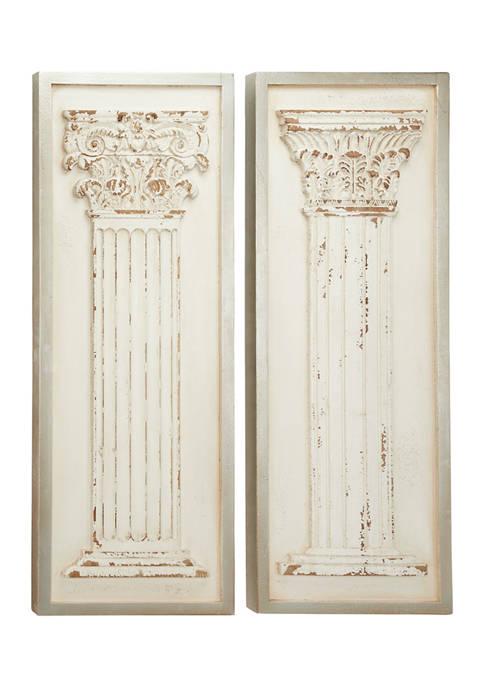 Wood Vintage Wall Décor - Set of 2