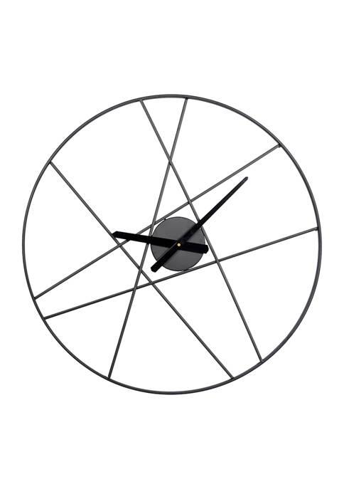 Iron Contemporary Wall Clock