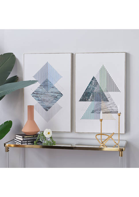 Wood Contemporary Wall Art - Set of 2