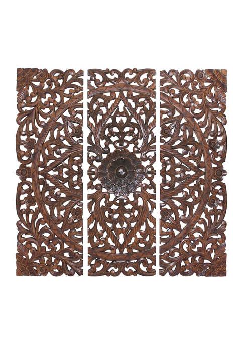 Pine Traditional Wall Decor - Set of 3