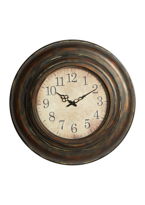 Monroe Lane Iron Rustic Wall Clock
