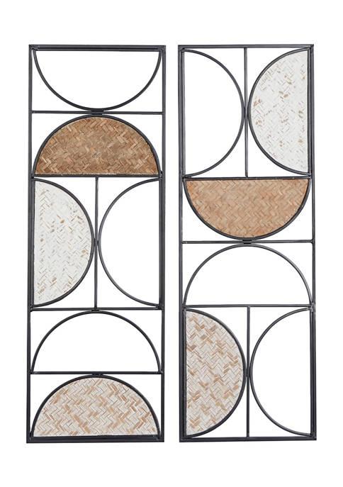 Iron Contemporary Wall Décor - Set of 2