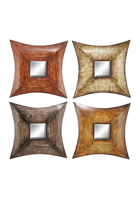 Iron Rustic Wall Mirror - Set of 4