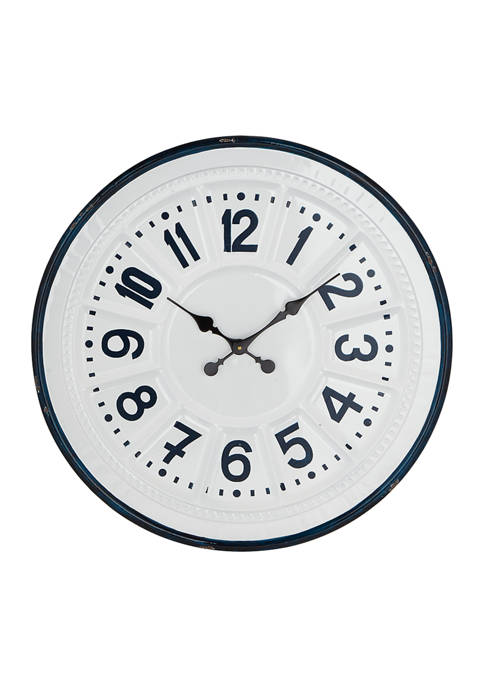 Monroe Lane Iron Farmhouse Wall Clock