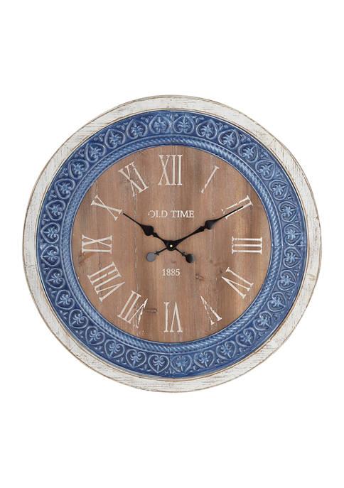 Monroe Lane Fir Farmhouse Wall Clock