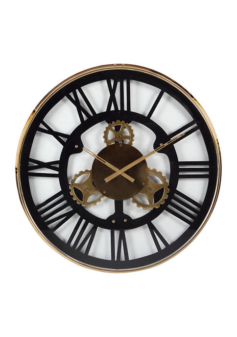 Stainless Steel Industrial Wall Clock