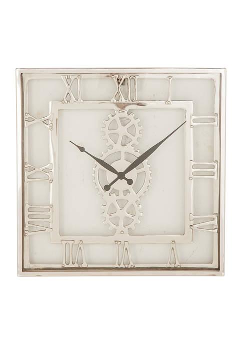 Monroe Lane Aluminum Wall Clock