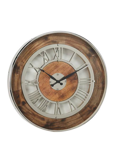 Monroe Lane Stainless Steel Wall Clock
