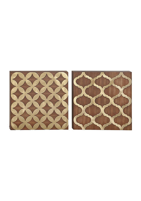 Pine Traditional Wall Décor - Set of 2